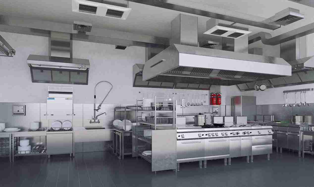 بنر آشپزخانه صنعتی - خانه و هتل