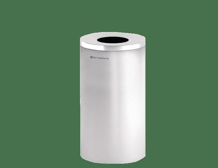 سطل زباله استیل 20 لیتری- سفید