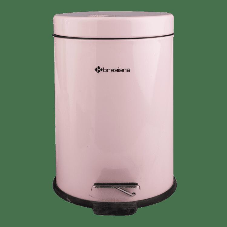 سطل زباله پدالدار 3 ليتري با برس توالت گلدصورتی مدل